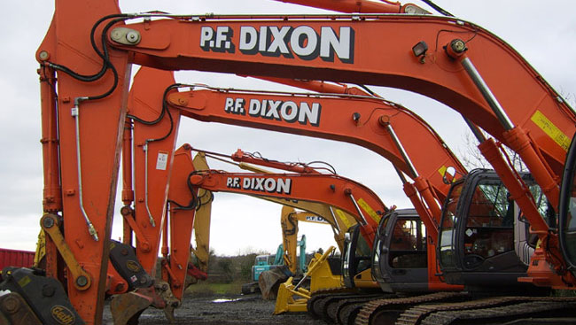 Excavators from PF Dixon